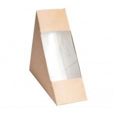 Упаковка под сэндвич 130х130х40мм с прозрачным окном