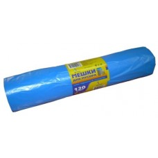 Мешки для мусора в рулоне 40 мкм 120л  ПВД синие 25 шт/рул