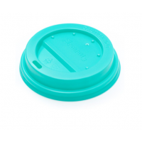 Крышка бирюзовая для бумажного стакана 350мл, d= 90мм